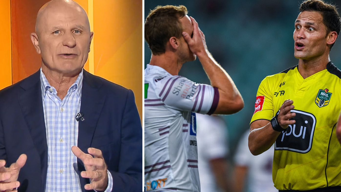 NRL: Peter Sterling slams officiating of Sydney Roosters vs Manly Sea Eagles