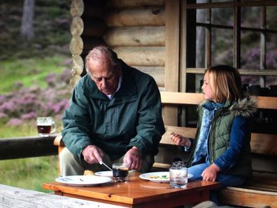 Prince Philip and Mia Tindall photo shared by Mike Tindall on Instagram, taken by the Duchess of Cambridge