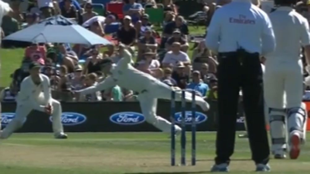 Smith snares stunning slips catch