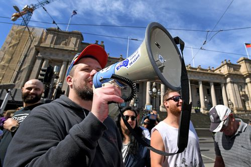 Neil Erikson is a prominent far-right activist. (AAP)