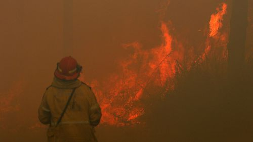 More than 180 firefighters are out in force battling the blaze.