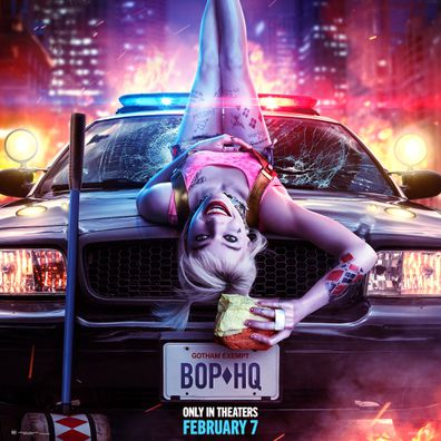 Margot Robbie as Harley Quinn in the first series of posters for Birds Of Prey