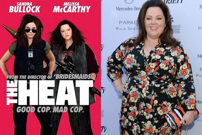 Melissa McCarthy is unrecognisable in the 'The Heat' movie poster.