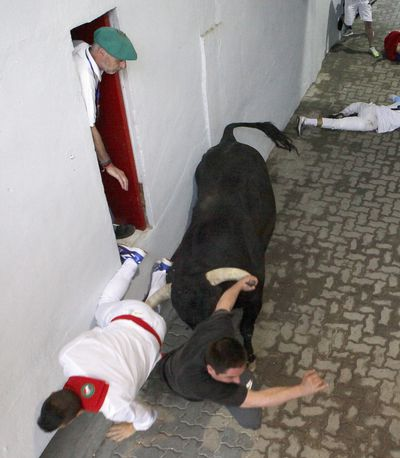 Injuries are inevitable when revellers participate in the running of the bulls festival