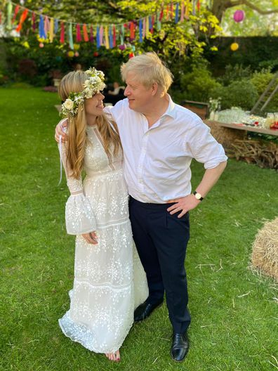 Carrie Symonds and Boris Johnson at their wedding reception