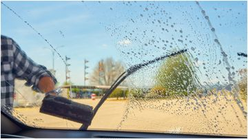 A Perth man has been fined $50 for giving a windscreen washer $1.50.