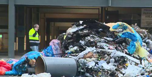 Adelaide garbage truck rubbish fire