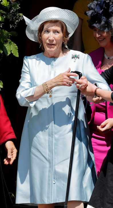Lady Celia Vestey attends the wedding of Prince Harry to Ms Meghan Markle at St George's Chapel, Windsor Castle on May 19, 2018 in Windsor, England