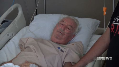 The 84-year-old is finally being flown to Australia. (9NEWS)