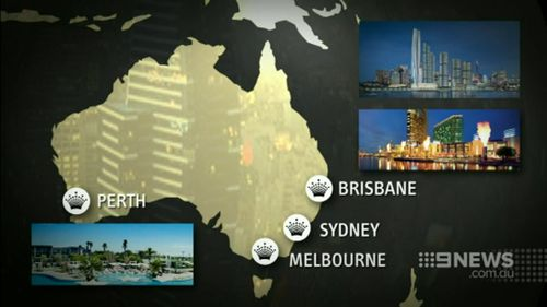 The Crown empire was born in Melbourne but is spreading across the country and the world. (9NEWS)