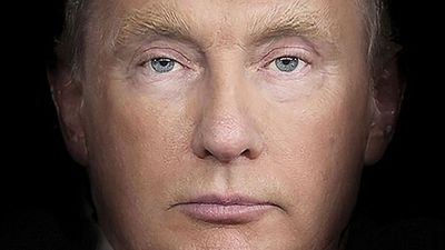 Trump and Putin's faces melded together on Time cover