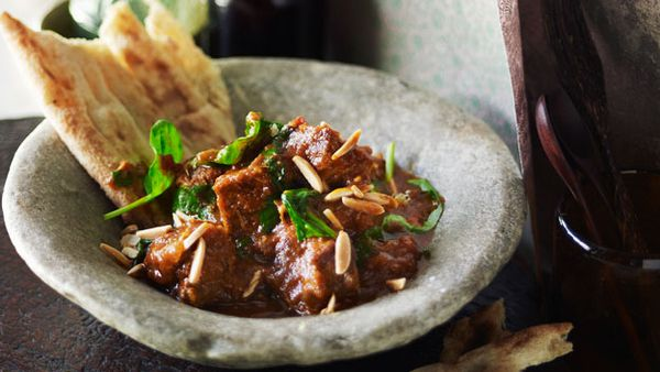 Afghani lamb and spinach curry