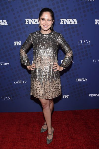 Shoe designer Sarah Flint in J Mended at the FN Achievement Awards in New York.