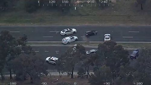 The pursuit lasted 40 minutes. (Victoria Police)
