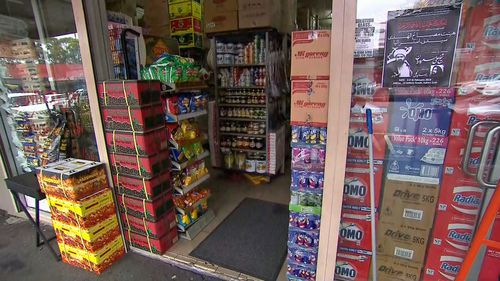 A shop on Memorial Avenue in Merrylands near where the man was bashed.