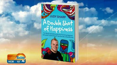 A Double Shot of Happiness is a book about the Sharp familys journey. (9NEWS)