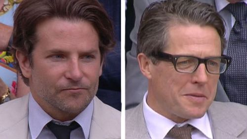 Celebrities on show on centre court for Wimbledon final