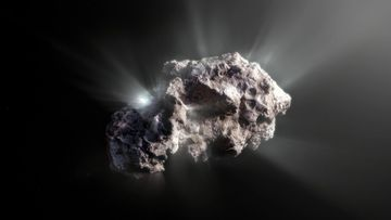 An artist's impression of what the surface of the 2I/Borisov comet might look like.