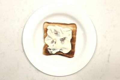 Cream cheese on toast: 145 calories