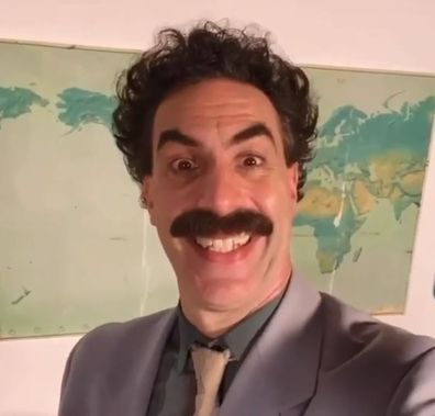 Sacha Baron Cohen dedicates birthday video to Katy Perry.