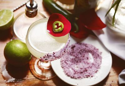 "Recipe: <a href=""http://kitchen.nine.com.au/2016/05/20/10/04/rosa-picante-margarita-spicy-margarita"" target=""_top"">Rosa picante Margarita (spicy Margarita)</a>"