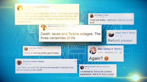 Customers took to Twitter to voice their frustration with the Telco. (9NEWS)