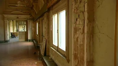 The ballroom is now crumbling and desperately in need of repair. (9NEWS)