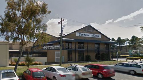 Canberra newspaper office evacuated after gas pipe rupture