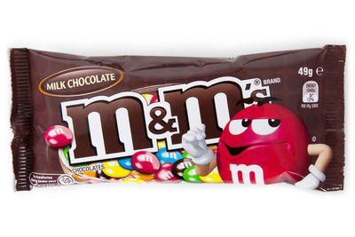 20 M&M's milk chocolates are 100 calories