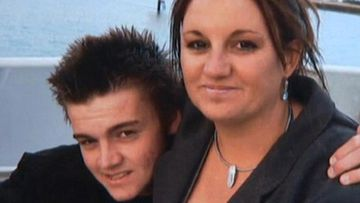 Dylan Milverton (left) and Senator Jacqui Lambie.