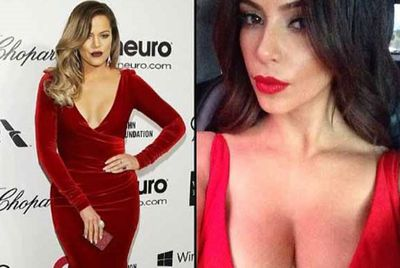 Erm, was there a theme at Elton John's Oscars bash? Either way, Kim and Khloe Kardashian looked red hot!