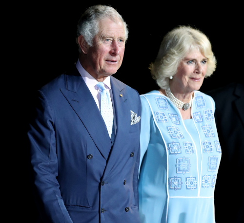 Prince Charles and his wife Camilla at the Commonwealth Games opening ceremony last night. (AAP)