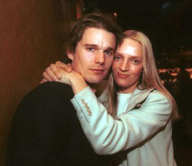 Ethan Hawke e Uma Thurman no Festival de Cinema de Sundance de 2000 em Park City, Utah