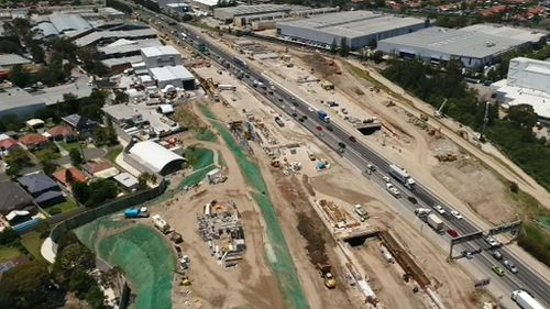 The Westconnex motorway could be completed 18 months late.