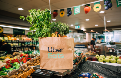 Woolworths fresh grocery delivery via Uber Eats