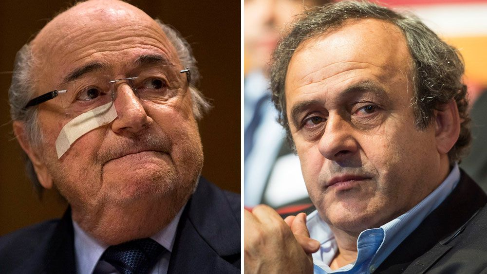 Sepp Blatter (L) and Michel Platini. (Getty-file)