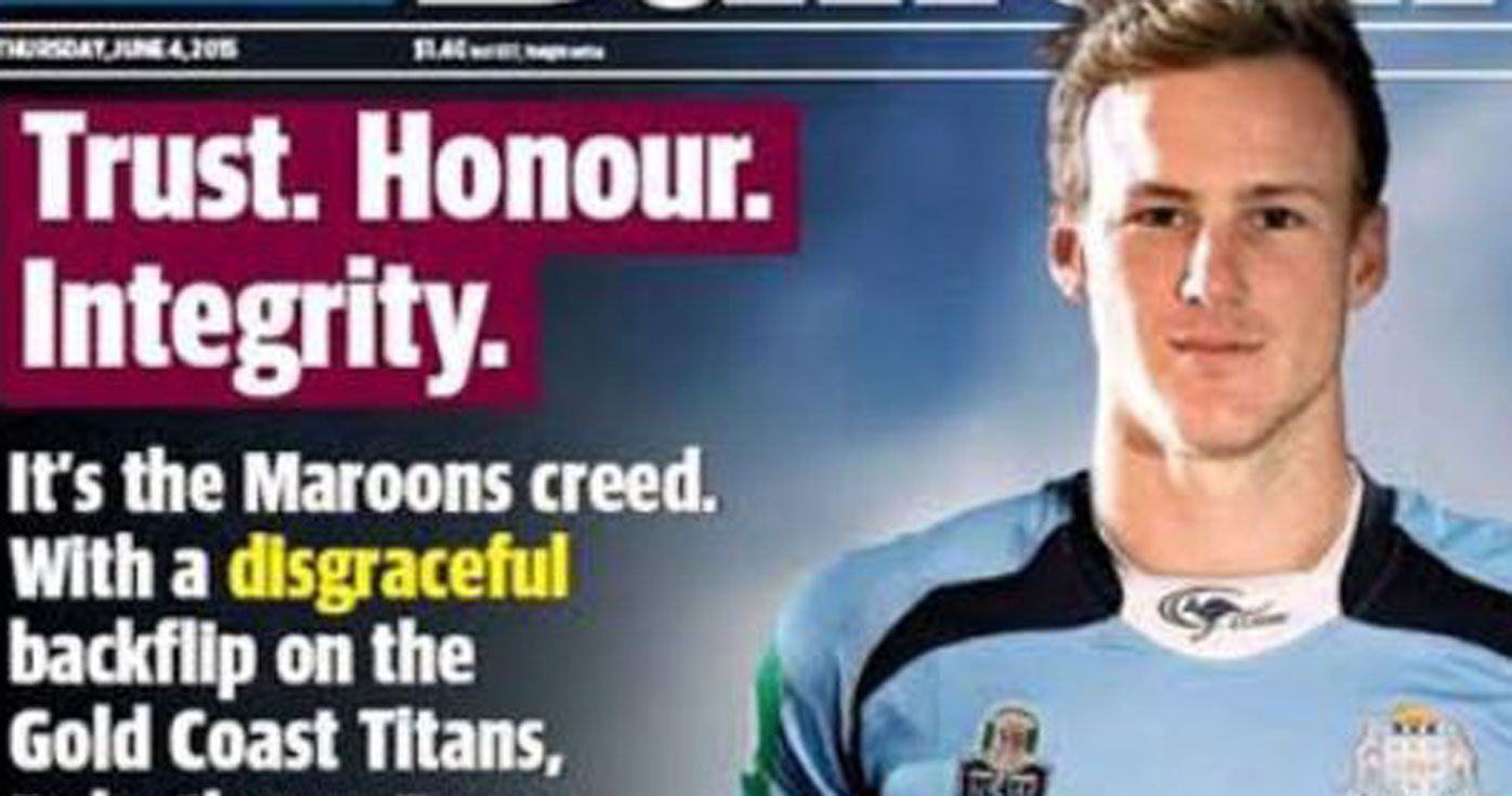 Daly Cherry-Evans, new Queensland captain, once called 'filthy cockroach' by paper