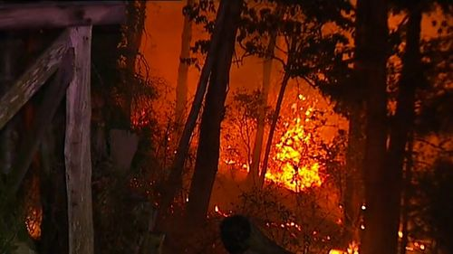 Hundreds of people are holed up in evacuation centres on Queensland's Sunshine Coast as crews wait to see how many homes have been lost to a ferocious fire.
