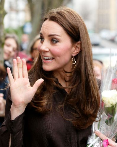 Kate Middleton wears band aid plaster on hands