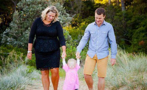 Jacqui Britton, 33, and husband. (Facebook)