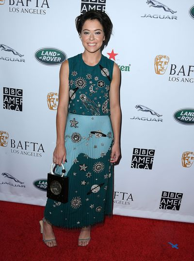 Tatiana Maslany&nbsp;attends the BAFTA Los Angeles + BBC America TV Tea Party 2018 at The Beverly Hilton Hotel. Maslany is up for the 'lead Actress in a Drama Series' award for her role in <em>Orphan Black.</em>