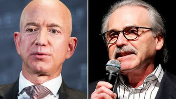 Jeff Bezos, Amazon founder and CEO and David Pecker, Chairman and CEO of American Media, the company behind the National Enquirer.