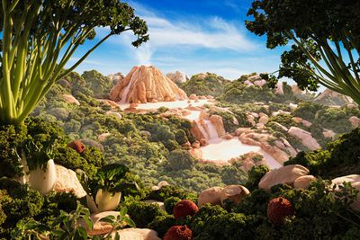 Incredible landscapes made from food