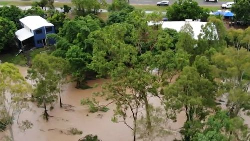 The town of Bluewater near Townsville was inundated with floodwaters.