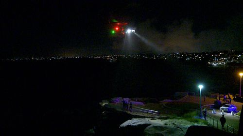 Helicopters were called to assist with the rescue.