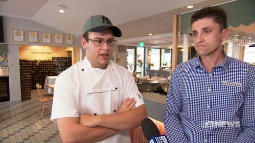A teenage apprentice chef leaped to save the live of a man who had been stabbed in the chest and collapsed outside of a Perth restaurant.