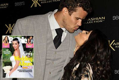 """You can't talk about Kardashian scandals without talking about the <i>marriage that only lasted 72 days</i>. According to <i>Radar Online</i>, Kim """"shopped around"""" for someone to play her new husband on her reality TV program. She reportedly wanted a professional athlete for a hubby, and had her people call around offering dates to various single sportsmen."""