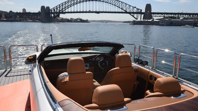"""The four-seat convertible is expected to be a """"game-changer"""" for the company. It's been called the fastest and sexiest Rolls to date.(AAP)"""