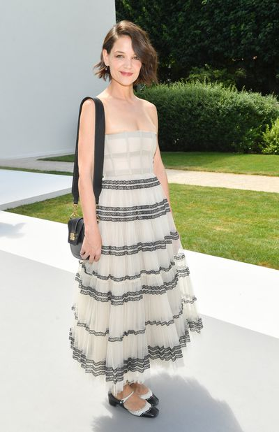 Actress Katie Holmes at Christian Dior Haute Couture  A/W 18/19 show in Paris,  July 2018