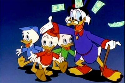 <B>Ran from:</B> 1987 to 1990.<br/><br/><B>Why it's awesome:</B> Featuring classic Disney characters Scrooge McDuck and his nephews, Ducktales is fondly remembered as a classic thanks to its action-packed plots — the gang hunted for treasure, solved puzzles and protected Scrooge's fortune from scheming villains.<br/><br/>